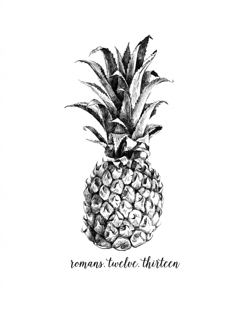 image relating to Printable Pineapple called Free of charge Summertime Printables for your Residence Particularly Future