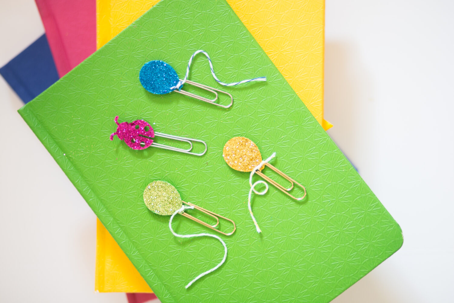 Paper Clip Bookmarks with Martha Stewart Glitter