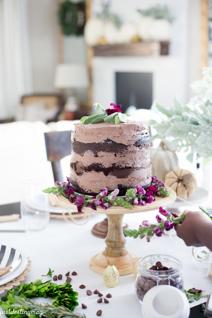 Chocolate Naked Cake - Autumn Wedding_-11