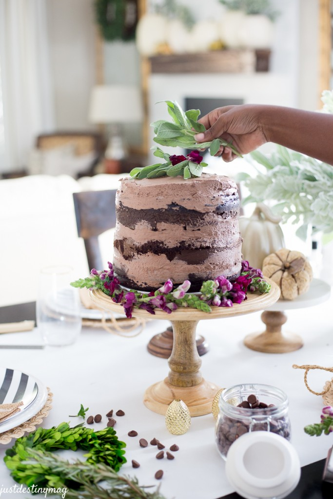 Chocolate Naked Cake - Autumn Wedding_-8