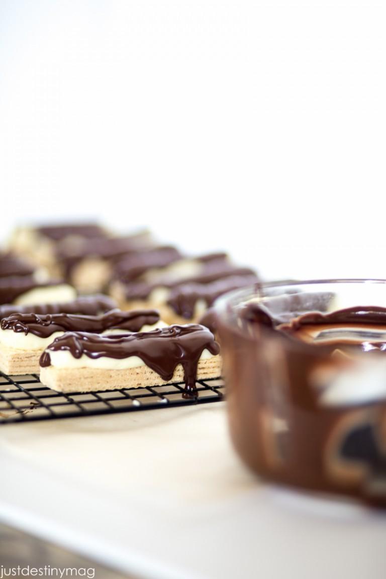 No Bake Cheesecake Candy Bars