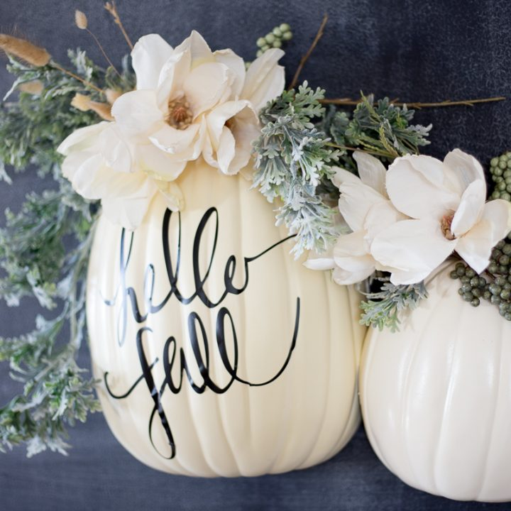 DIY Wall Pumpkin