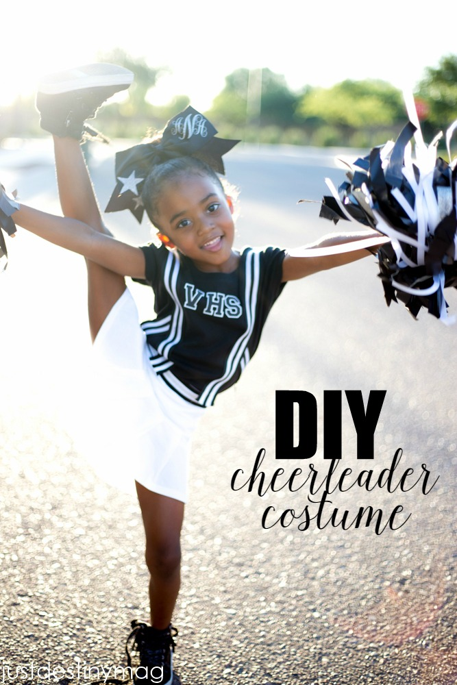 Simple DIY Cheerleader Halloween Costume for Kids