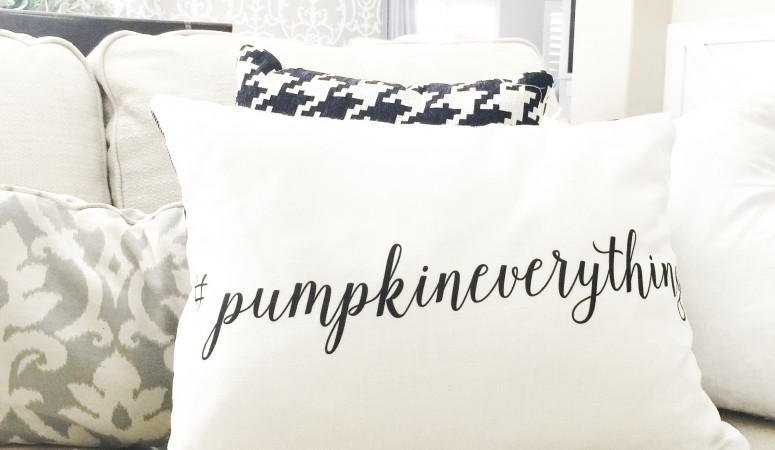 #pumpkineverything pillow from Just Destiny Mag