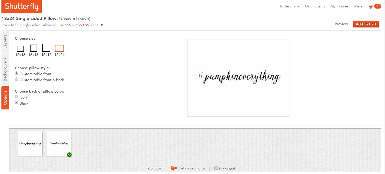 Shutterfly Screen Shot
