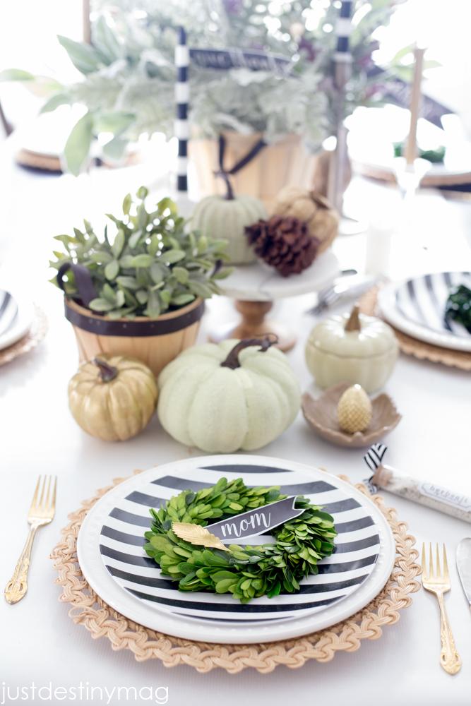 Thanksgiving Table Idea- Just Destiny Mag