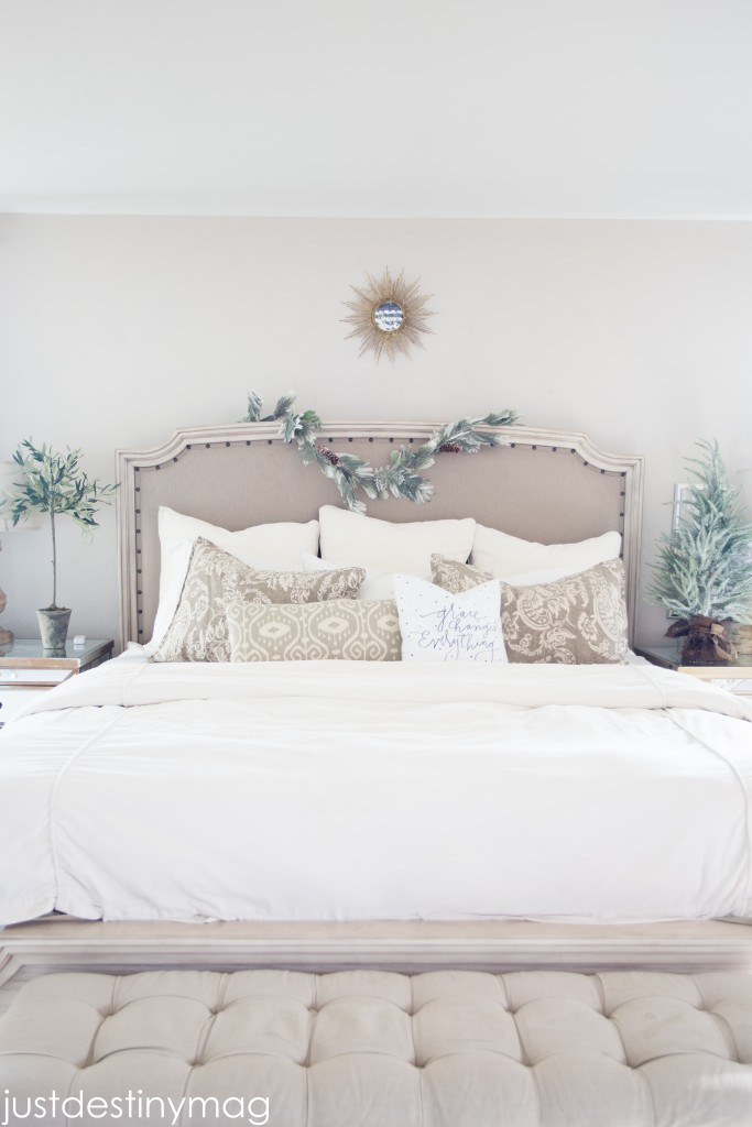 A Christmas Home Tour Master Bedroom