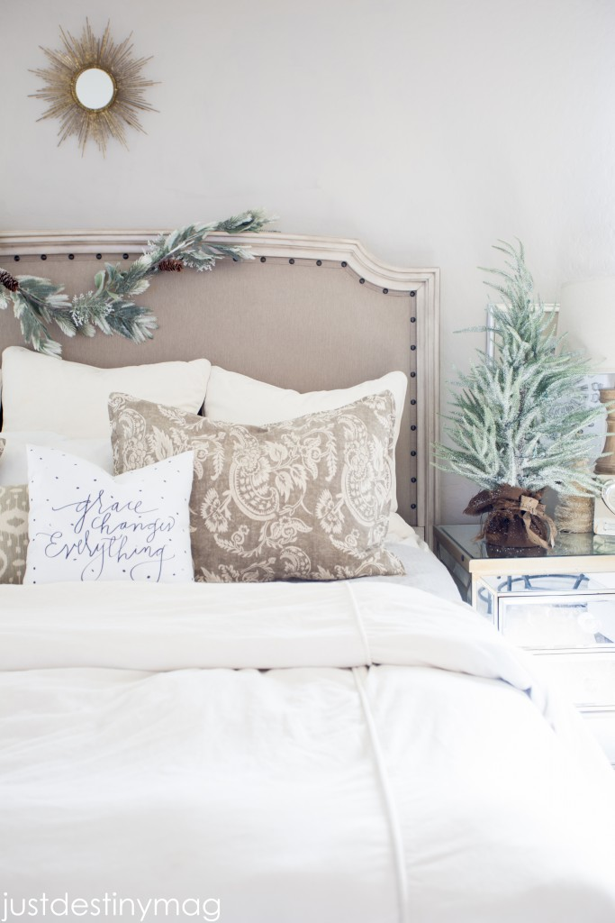 A Christmas Home Tour Master Bedroom Grace Pillow_