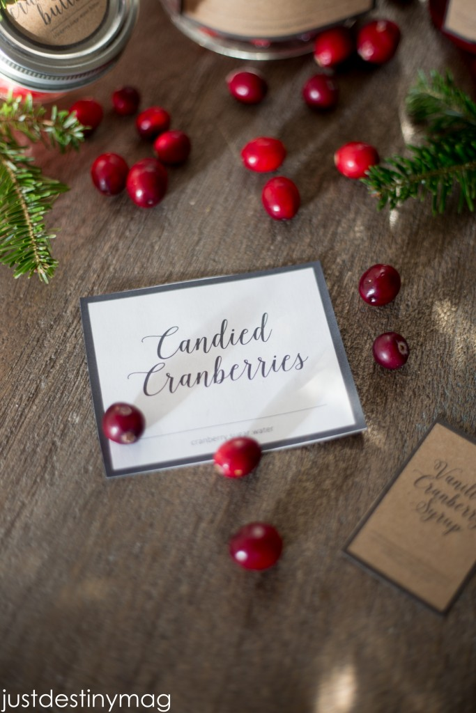 Cranberry Gift Labels