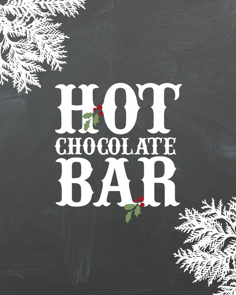 Hot Chocolate Bar Printable Just Destiny Mag