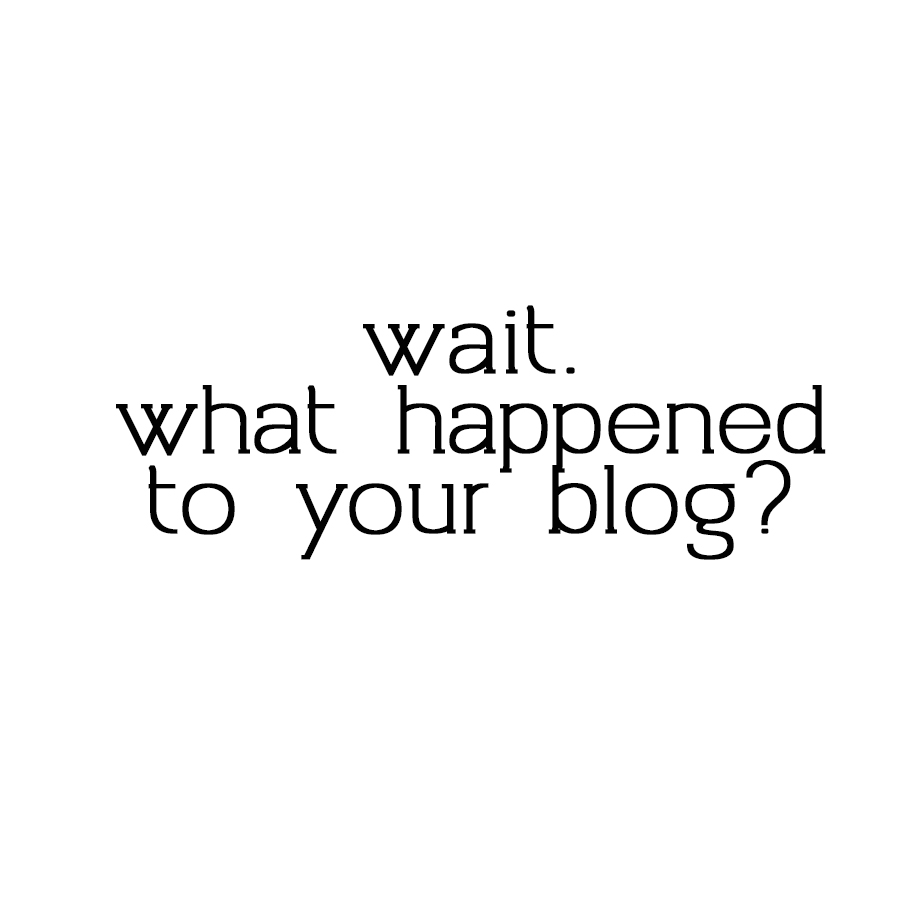 What happened to my blog?