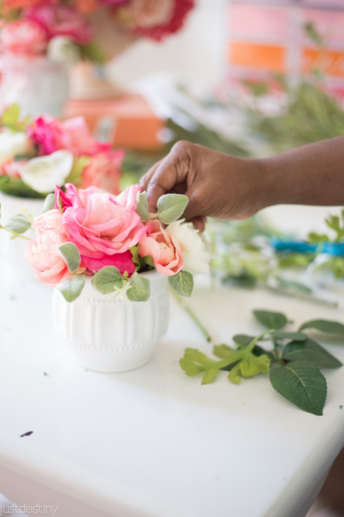 Flower Arrangements with Faux Flowers