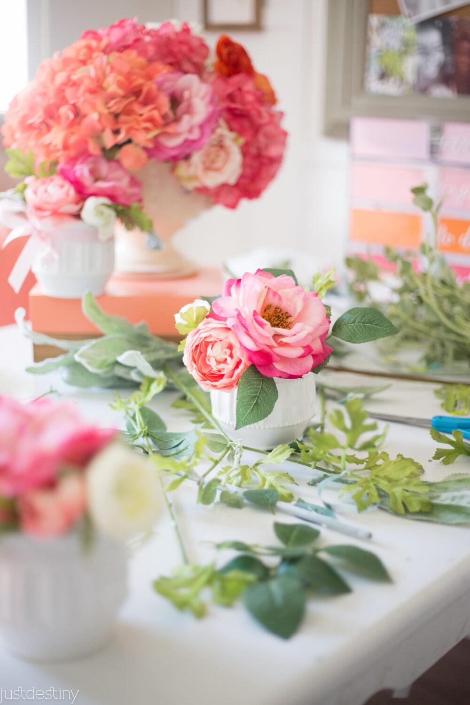 DIY Mini Floral Arrangments