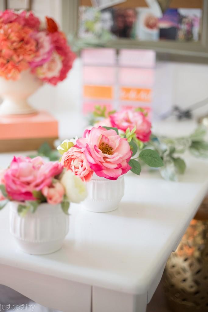 Flower Arrangements with Faux Flowers