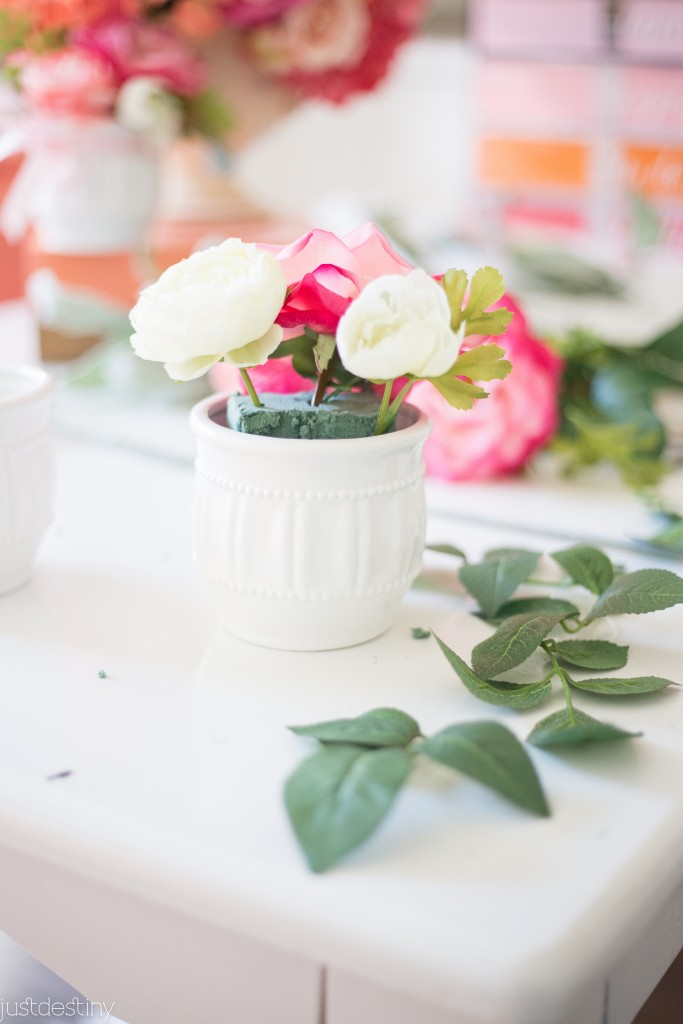 Flower Arrangments with Faux Flowers-5
