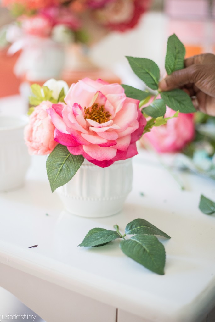Flower Arrangments with Faux Flowers-8