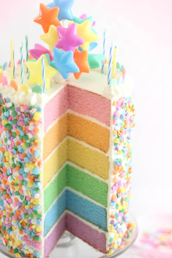 Pastel Layer Cake SprinkleBakes