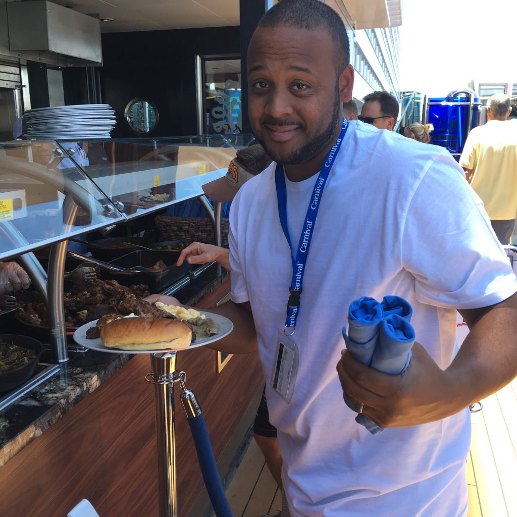 BBQ on the Carnival Magic Boat was delicious!