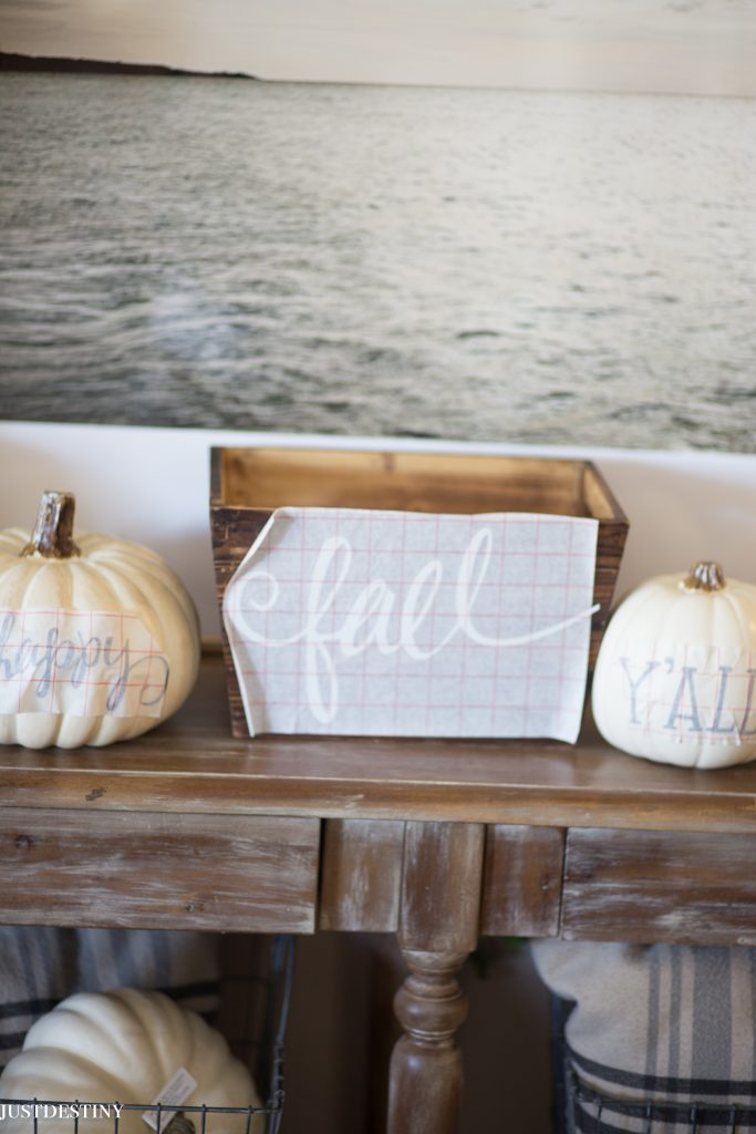 Easy Fall Decor with Just Destiny Mag Silhouette Cameo Machine Vinyl