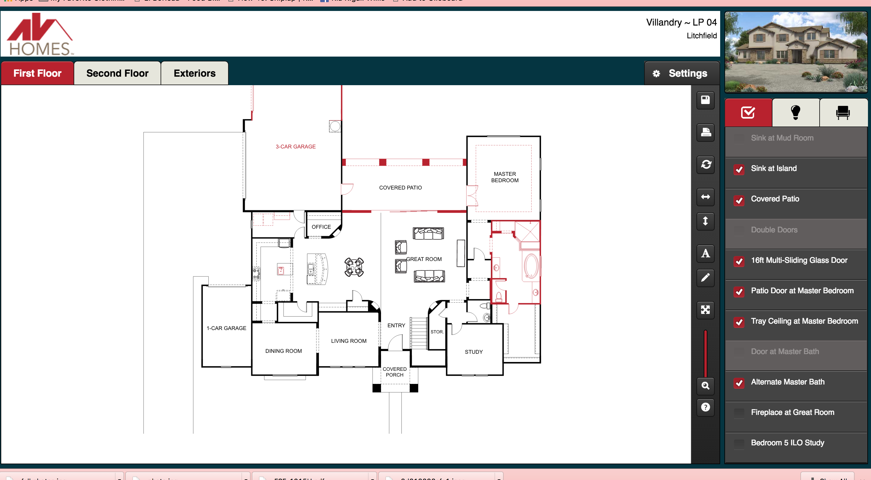 Av Homes Villandry floorpan