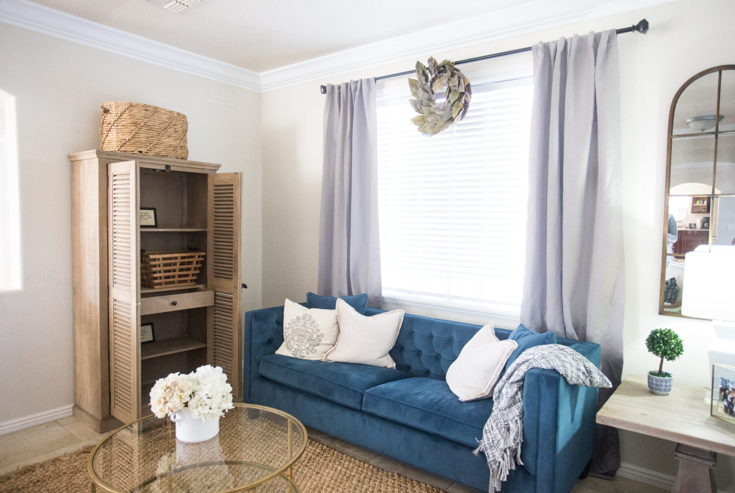 Family Friendly Living Room Makeover with Home Depot