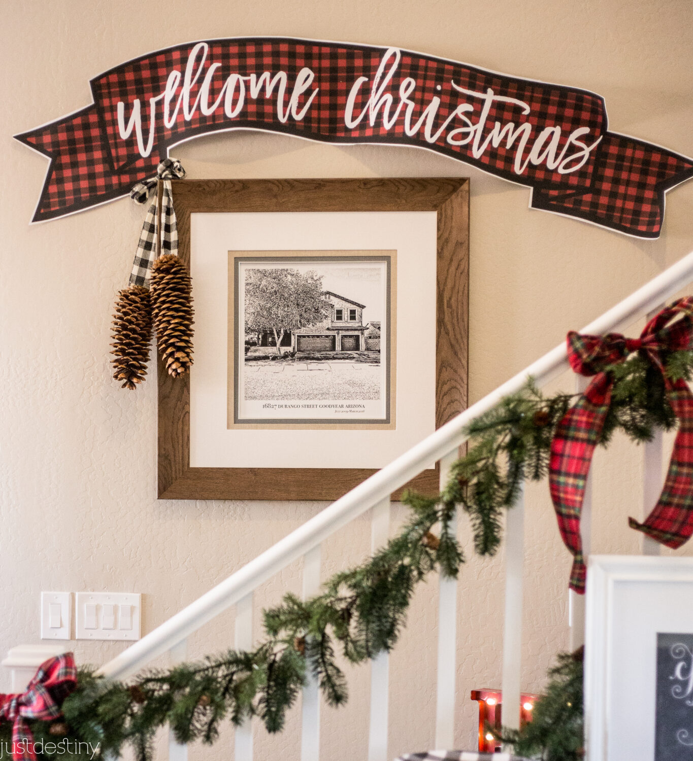 Buffalo Check Printable Christmas Banner