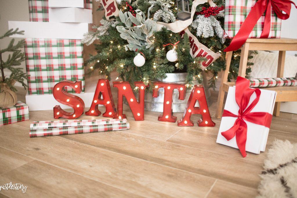 SANTA Christmas Marquee