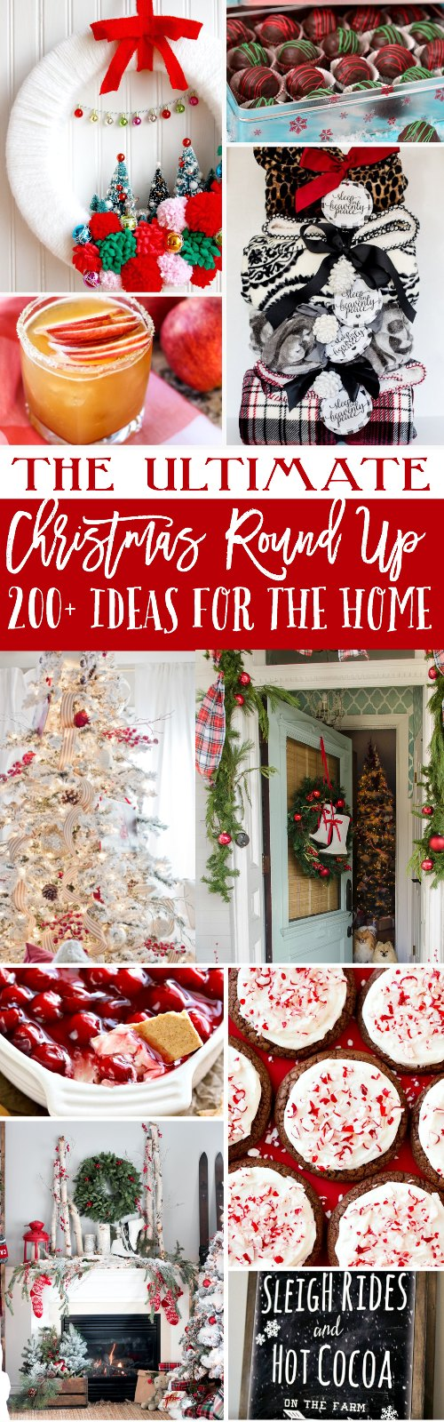 The Ultimate Christmas Round Up with 200 ideas for the home, gifts and things to bake.