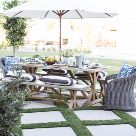 Setting an Outdoor Table