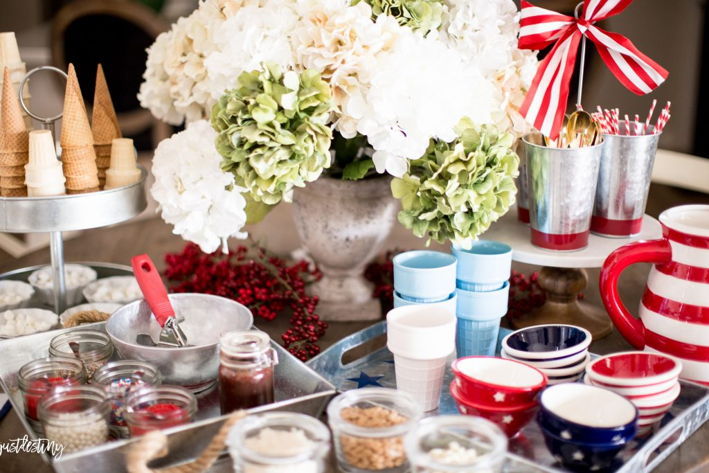 Summer Party Ideas Red White And Blue Ice Cream Social
