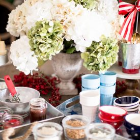 Summer Party Ideas: Red, White and Blue Ice Cream Social