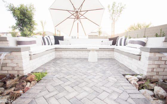 Built in Outdoor Sofa – Just Destiny Backyard Chronicles