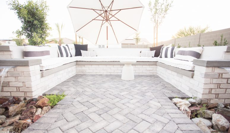 Built in Outdoor Sofa – Just Destiny Backyard Chronicles