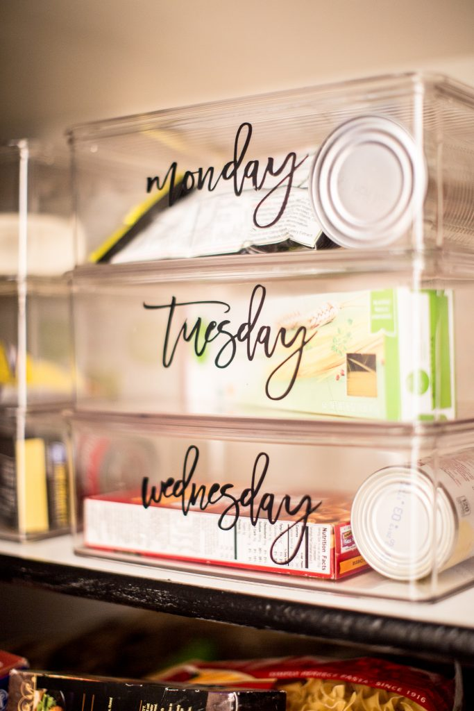 Clear Pantry Organization