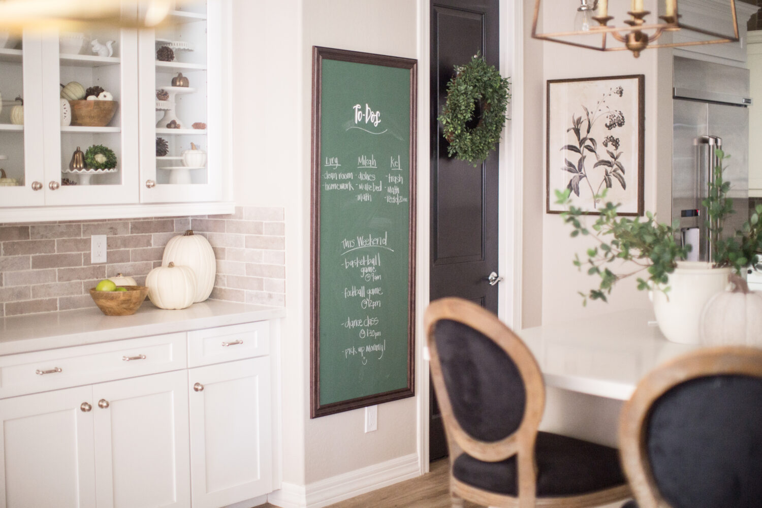 Michaels Custom Decor Kitchen Chalkboard