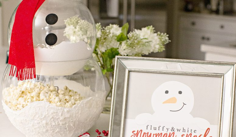 Cute Snowman Printable for Snackable Snowman