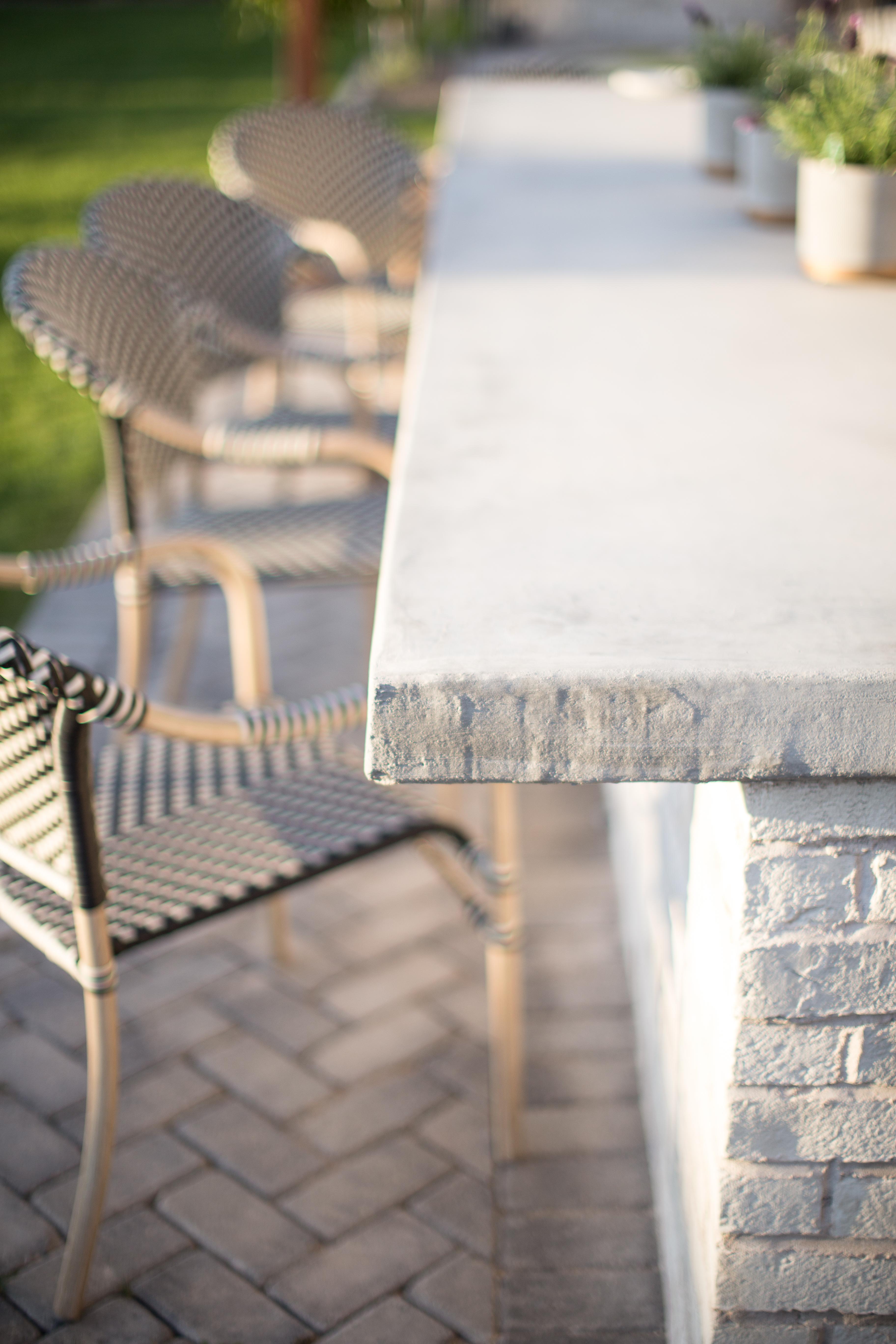 Outdoor Kitchen Cement Countertops
