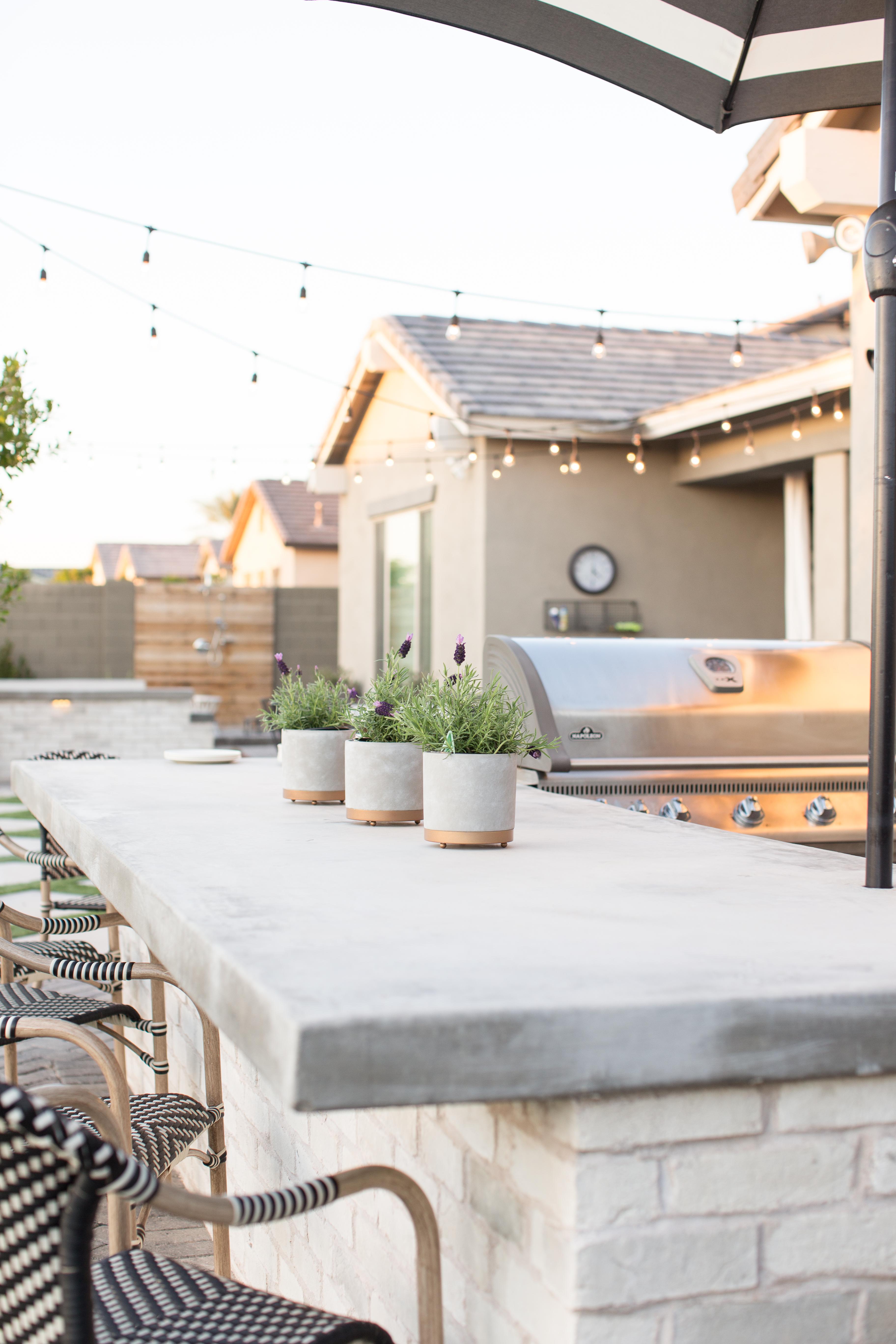 Outdoor Kitchen Countertop Concrete