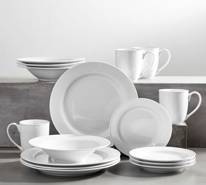 Great White Porcelain Dinnerware Everyday Dishes