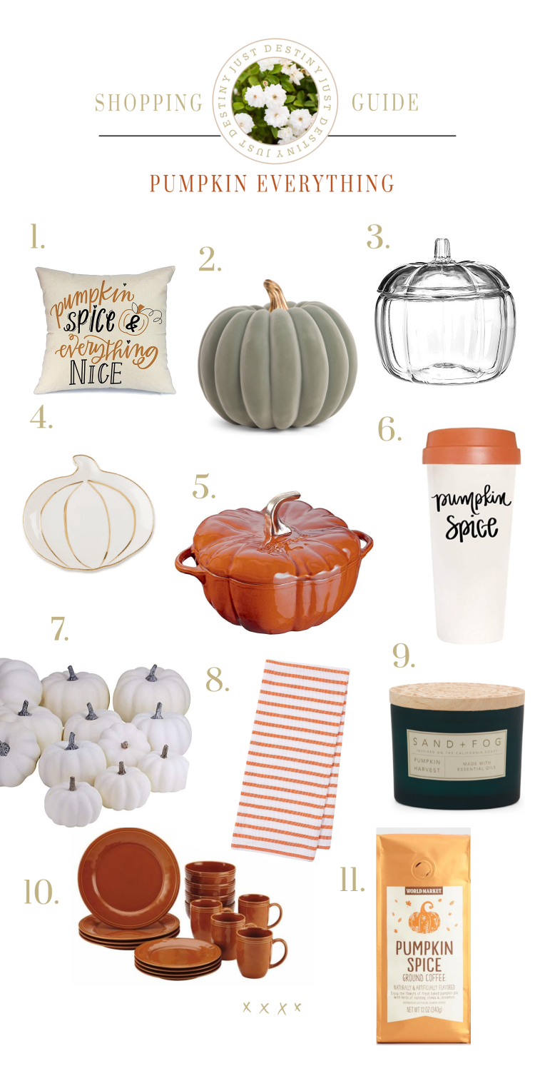 Why I Love Seasons and a Pumpkin Everything Shopping Guide
