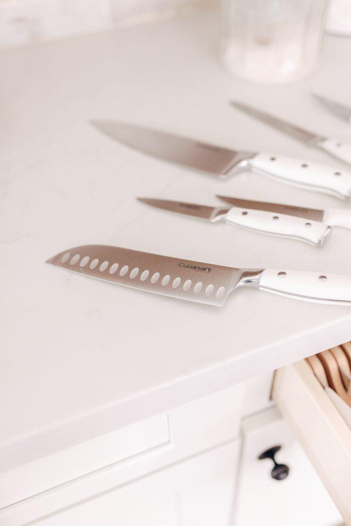 Cuisinart White Knife Set