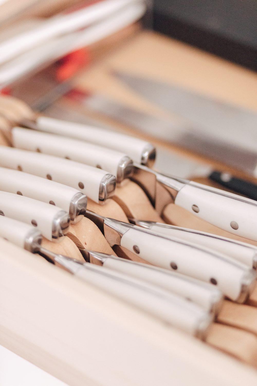 Set of White Knives