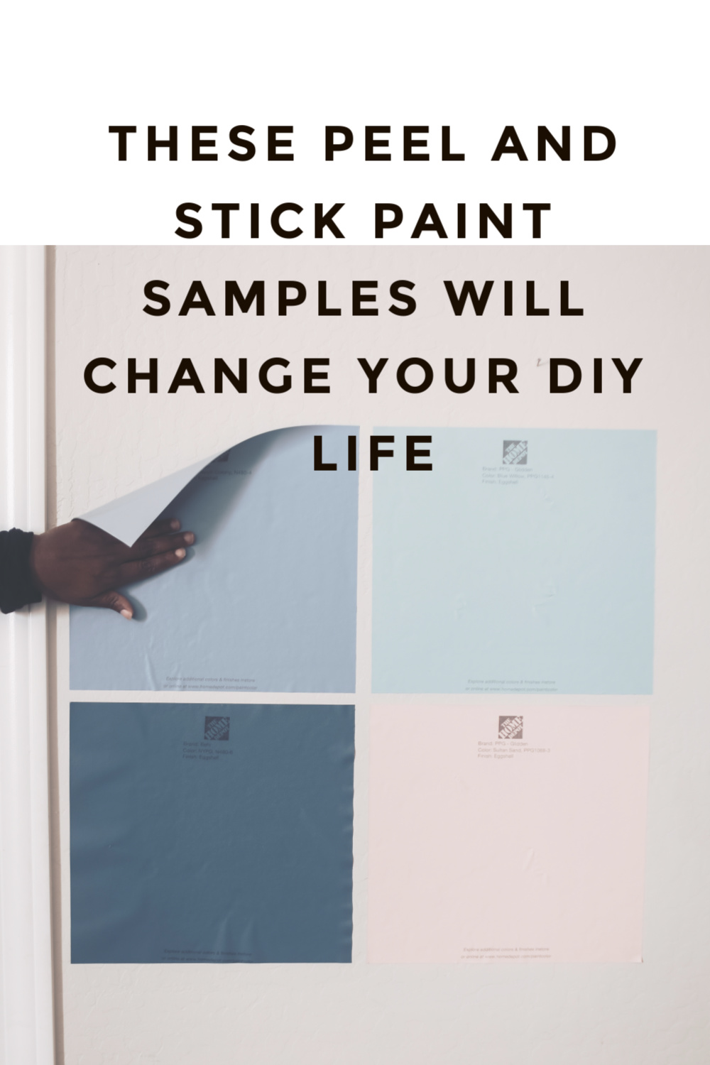 Peel and Stick Paint Samples for The Home Depot