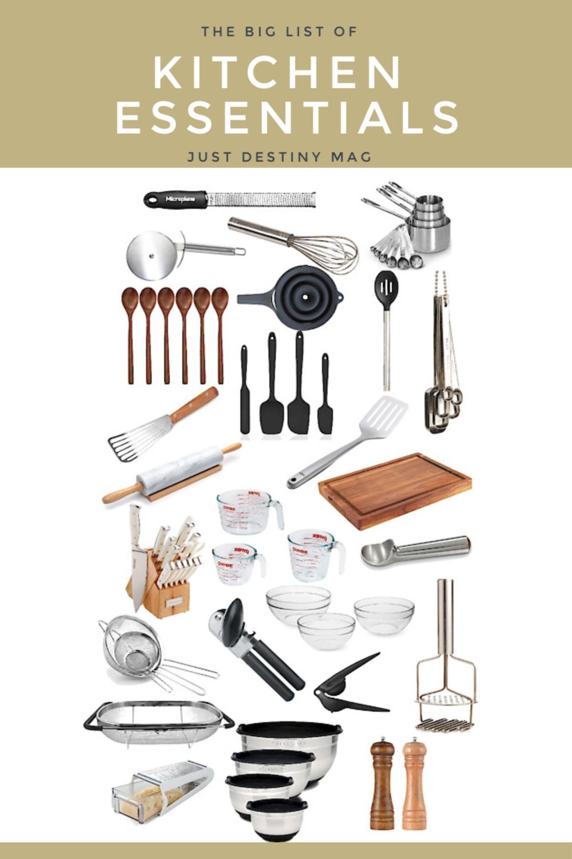 Big List of Kitchen Essentials