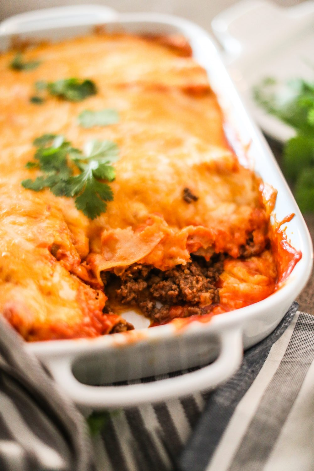 Mamma C's Ground Beef Enchiladas