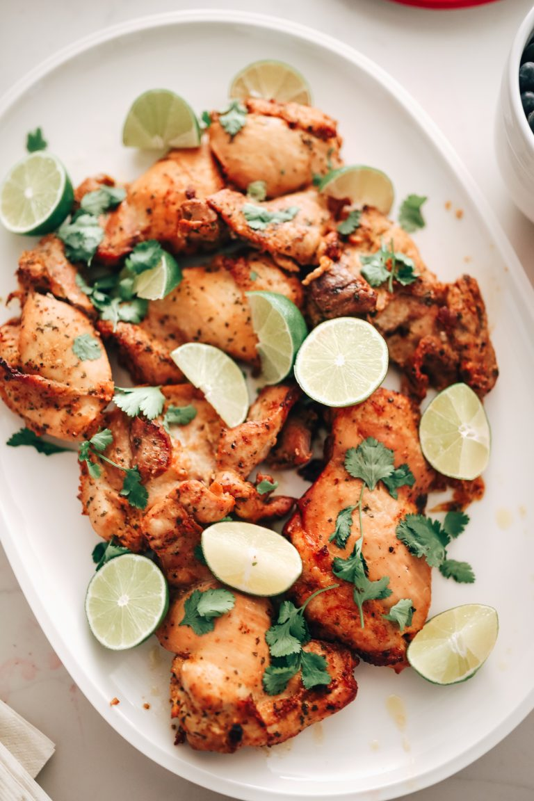 Chicken Recipes: Grilled Cilantro Lime Chicken Thighs