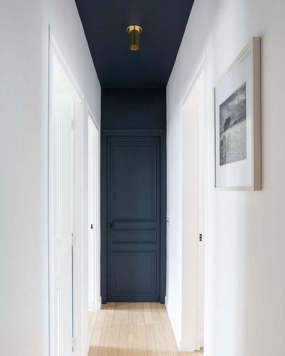 Dark Blue Hallway