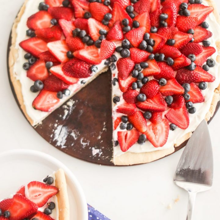 Red, White and Blue Fruit Pizza Recipe