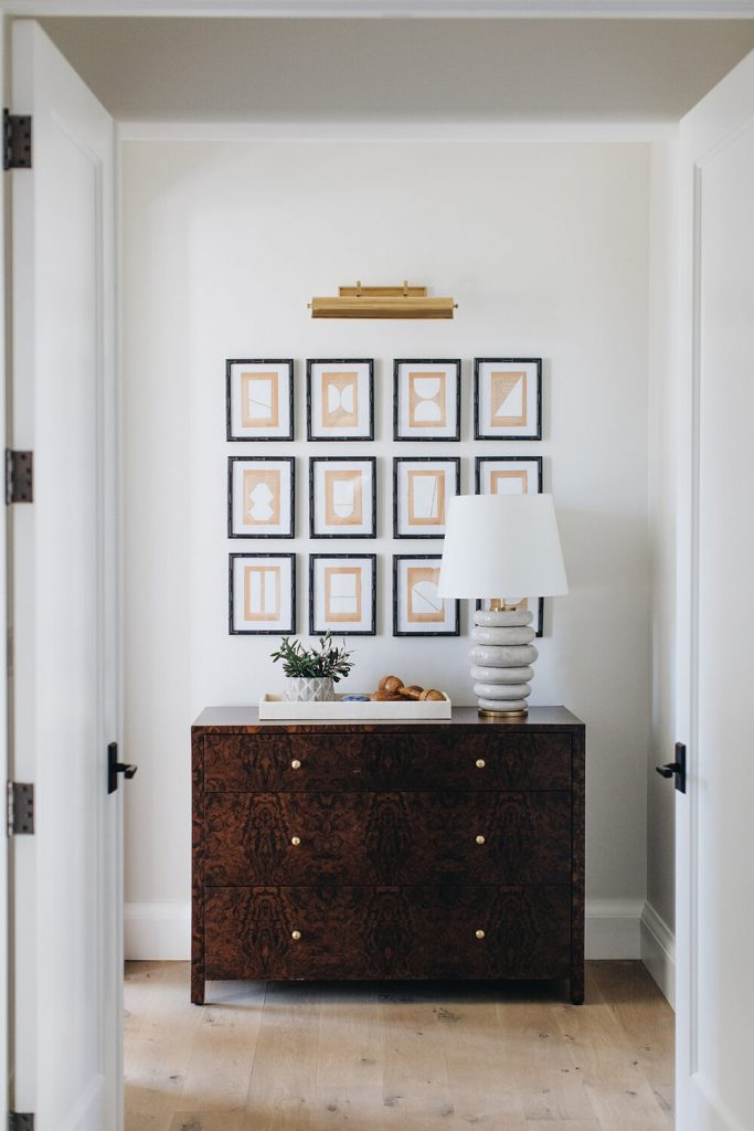 Brass Picture Light and Gallery wall