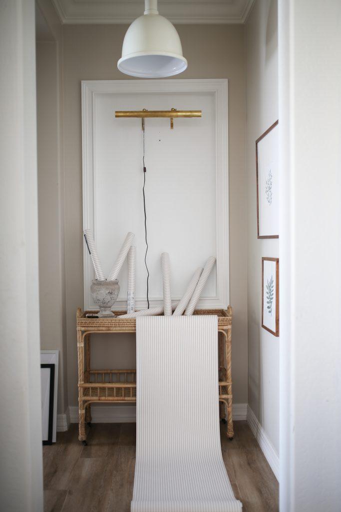 Hallway Lighting and Wallpaper
